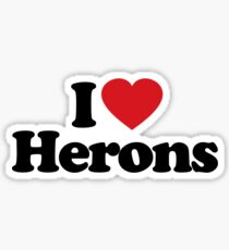 I Love Heart Herons Sticker Sticker