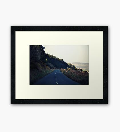 Country Roads (With a View to the Hills) Framed Print