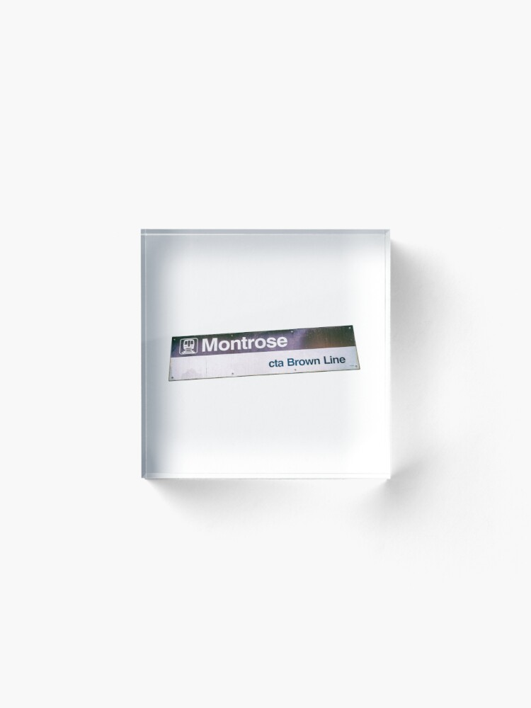 Alternate view of Montrose CTA Brown Line Station Sign Acrylic Block