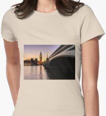 Big Ben at sunset  Womens Fitted T-Shirt