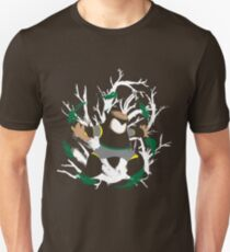 Wood Man Splattery Vector T T-Shirt