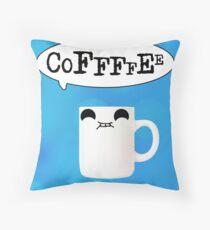 Coffeeeeee Throw Pillow