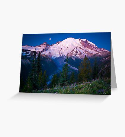 White River Moonset Greeting Card