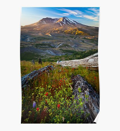 Mount St Helens Dawn Poster