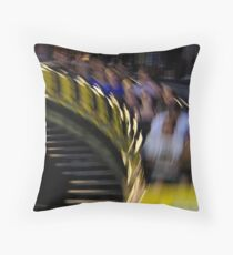 The Wooden Coaster Throw Pillow