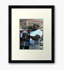 """Cell Phone Photo Review"" Framed Print"