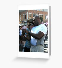 """Cell Phone Photo Review"" Greeting Card"