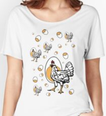 Retro Roseanne Chickens Women's Relaxed Fit T-Shirt