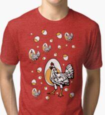 Retro Roseanne Chickens Tri-blend T-Shirt