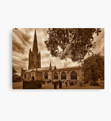 St Wulframs Church, Profile Canvas Print