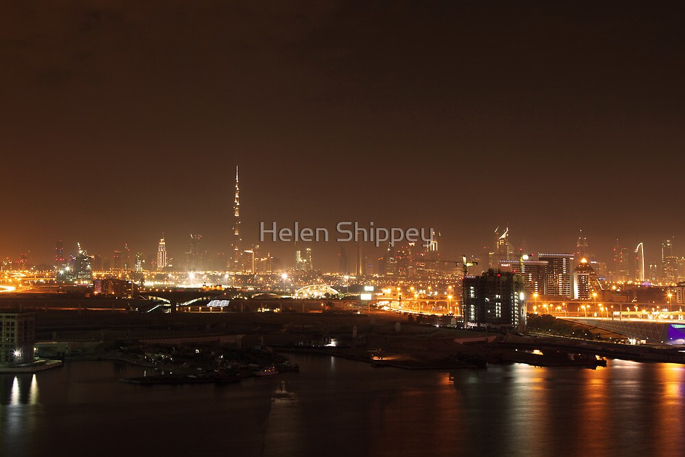 Burj Khalifa and Sheikh Zayed Rd skyline by Helen Shippey