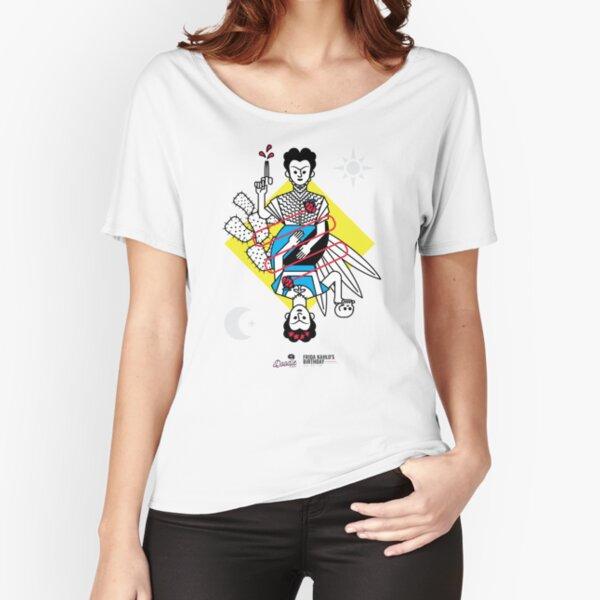 """Las dos Fridas"", Frida Kahlo minimalista Camiseta ancha"
