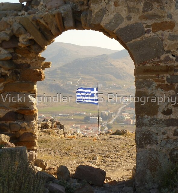The Greek Flag by Vicki Spindler (VHS Photography)