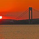 Verrazano Narrows Bridge - New York, New York by michael6076