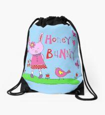 Honey bunny Drawstring Bag