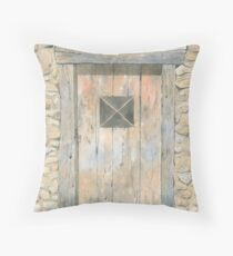 Old Door, Lavaudieu, France Throw Pillow