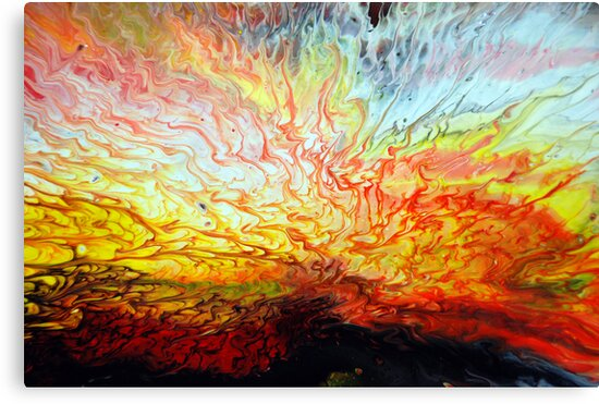 """Abstract Painting Ideas Acrylic: """"Liquid Acrylic Paint Explosion"""" Canvas Prints By"""