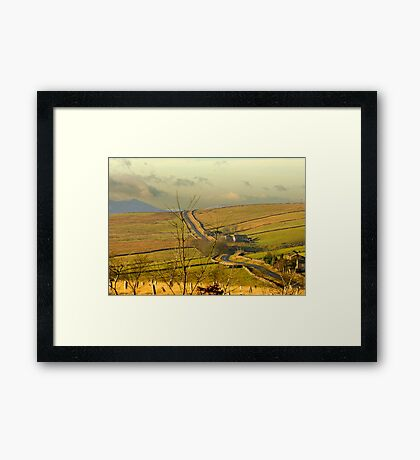 Dales Country Road Framed Print