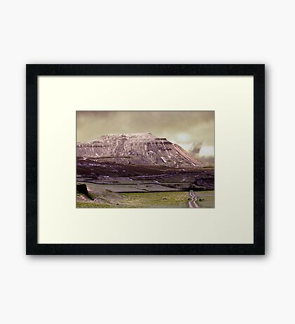 Ingleborough in the Yorks Dales Framed Print