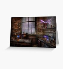 Steampunk - The Mad Scientist Greeting Card