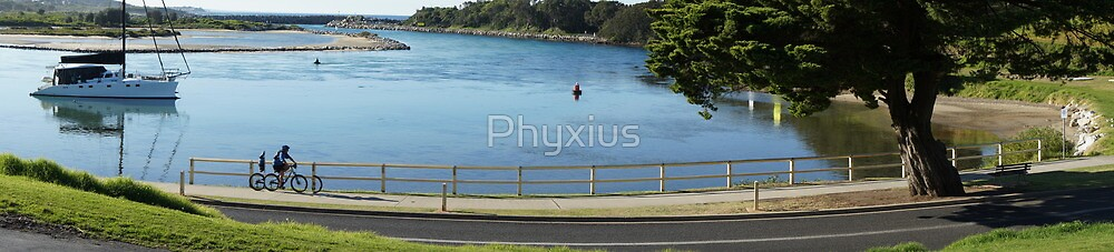 Lakeside Cyclist by Phyxius