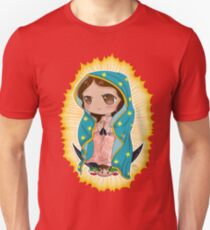 d06d406f8 Chibi Our Lady of Guadalupe Slim Fit T-Shirt