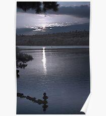 Kennebec Lake at Sundown - Infrared Poster