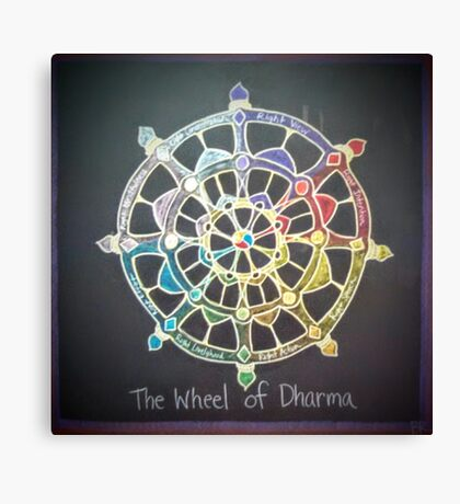 The Wheel of Dharma Canvas Print