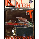 Dada Tarot- Knight of Batons by Peter Simpson