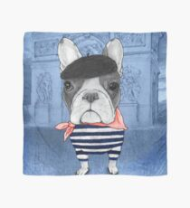 Frenchie With Arc de Triomphe Scarf