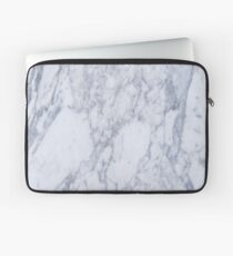White And Gray Marble Stone Pattern Laptop Sleeve