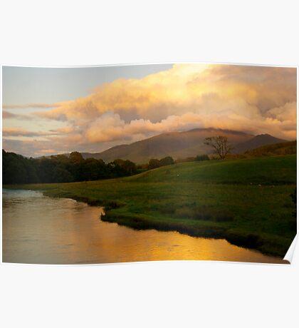 Skiddaw, The River Derwent And The Derwent Valley. Poster
