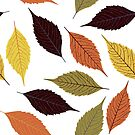 Colorful Fall Leafs Colors Seamless Pattern by artonwear