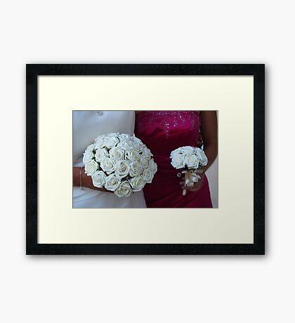 Wedding Posies Framed Print