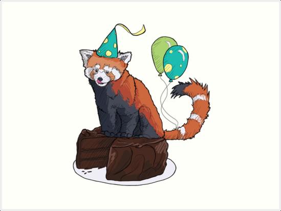 Red Panda Party by Kalan Tix