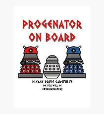Prigenator Onboard Photographic Print