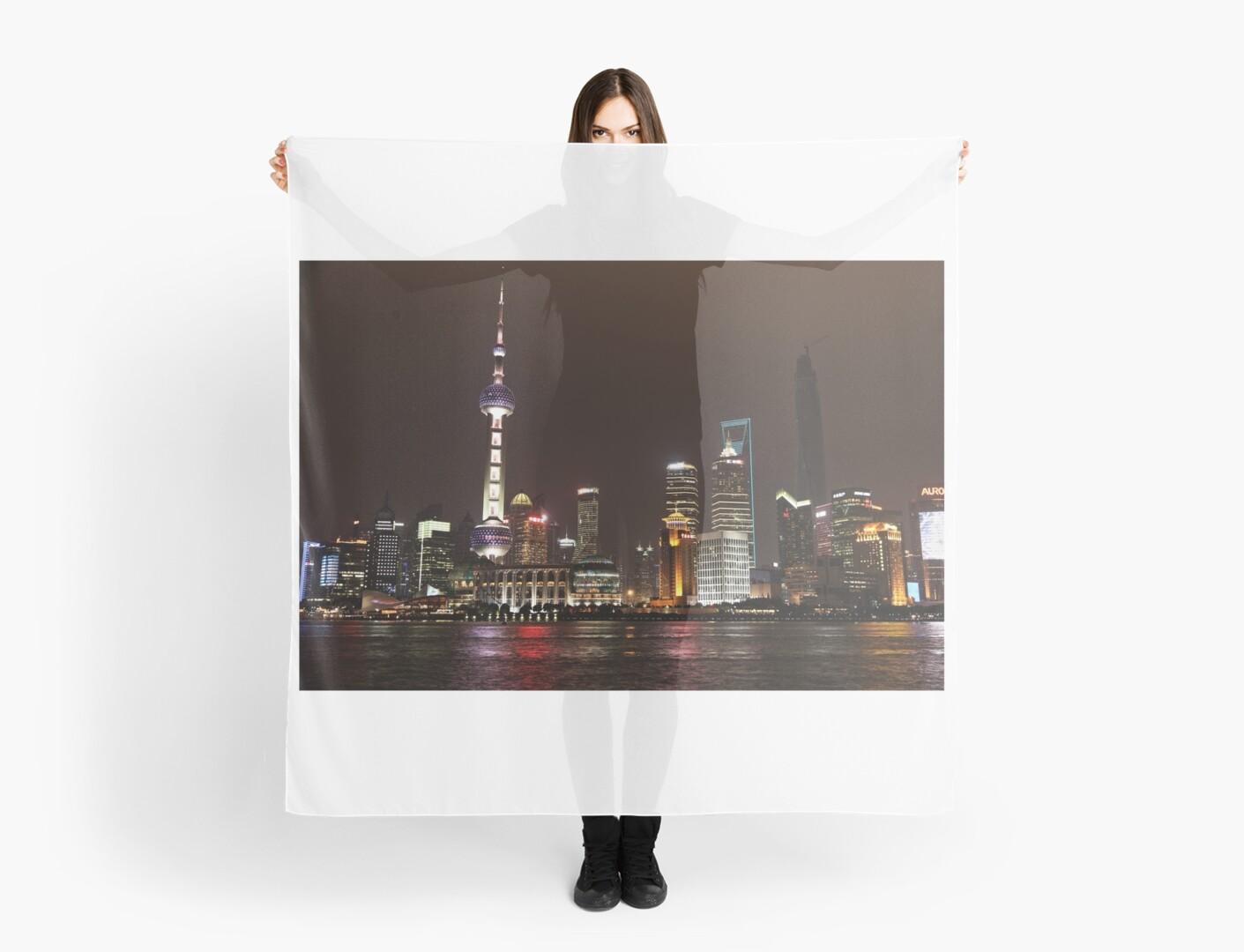 Shanghai Skyline at Night by Holger Mader
