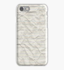Crinkled lined paper iPhone Case/Skin