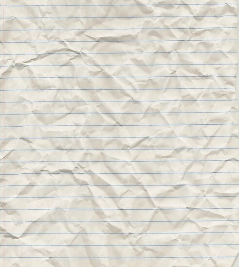 "Wallpaper Lined Paper: ""Crinkled Lined Paper"" Poster By NemJames"
