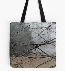 Fog Hangs Heavy Tote Bag
