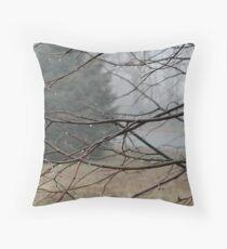 Fog Hangs Heavy Throw Pillow