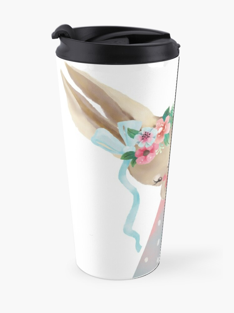 Alternate view of Animal A Alphabet Initial Bunny Rabbit  Travel Mug