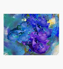 Blue Orchids Photographic Print