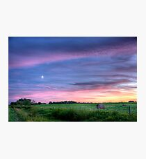 Prairie Sunset - Saskatchewan, Canada Photographic Print