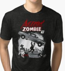 Action Zombie #1 Tri-blend T-Shirt