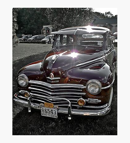Antique 1948 Plymouth - Cruise Night - Oak Harbour - Exeter RI Photographic Print