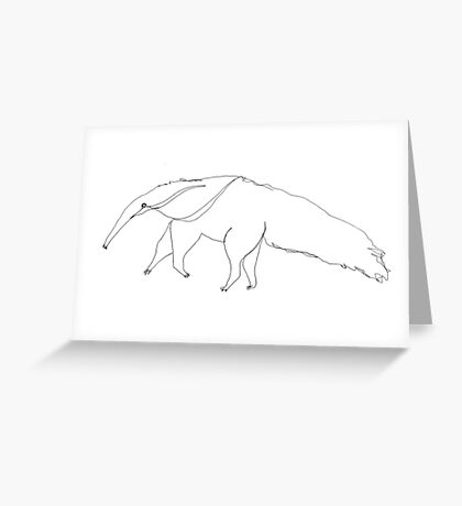 Arnie the aardvark invites you to the Web of Whimsy Greeting Card