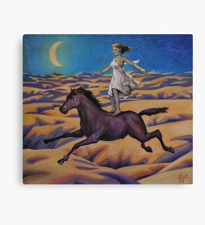 Dream of a Flying Horse Canvas Print