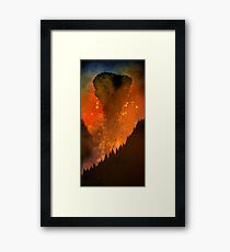 Leaving Earth Framed Print