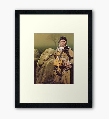 M Blackwell - Still, he was happy... Framed Print